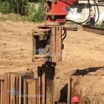 Строительство водопроводной трубы на 36 км ПК 78 главного хода на ж/д станции Силикатная